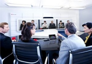 Video conferencing with digital screens and smart technology