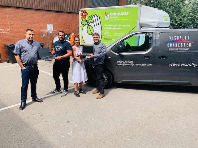VCW donate IT equipment to Emmaus Bristol
