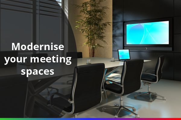 Meeting room equipped with AV