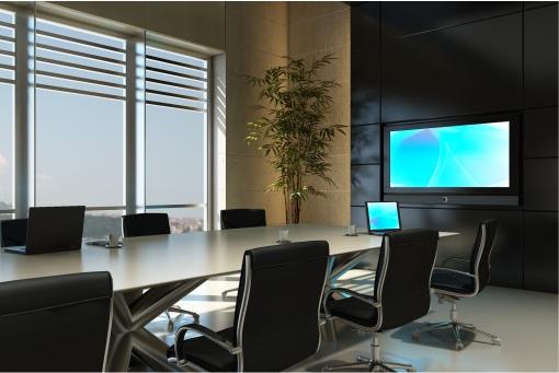 Audio visua lequipment in boardroom