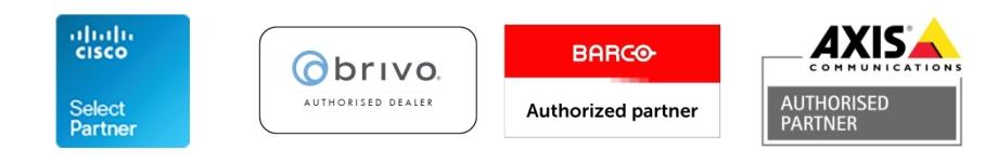 Cisco Partner   Brivo Dealer   Barco Partner   Axis Partner