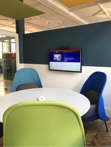 Digital display screen in Westminster library